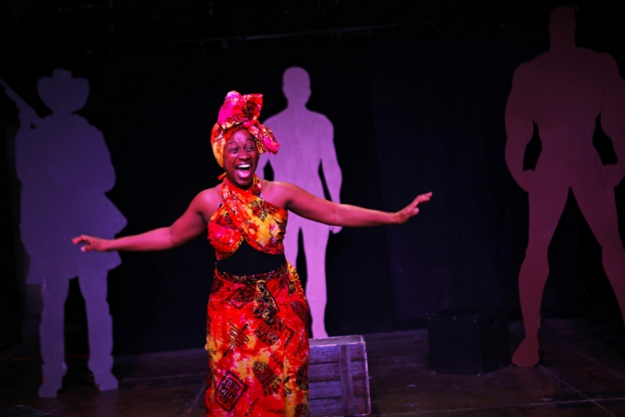 """Pamela Archer-Shaw performing in """"Message From a Slave."""""""