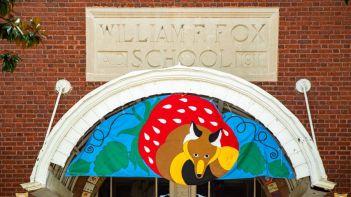 Close up of Fox Elementary School in Richmond, Va.