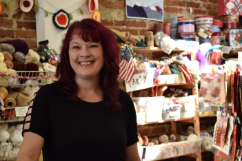 Director of Scrap RVA Amy Turner promotes creative reuse to keep things out of landfills. Photo: Yasmine Jumaa