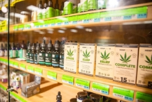Hemp CBD products for sale at Elwood Thompson's grocery store in Richmond. Virginia's marijuana processors are concerned consumers will confuse their marijuana products with hemp products now available across the state.