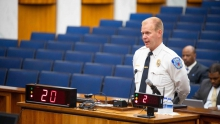 Richmond Police Chief Will Smith speaking at a recent Richmond City Council meeting.