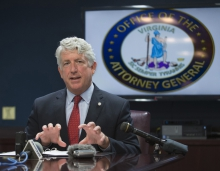 Mark Herring at a press conference in 2017