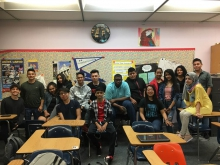 ESL students from Hermitage High School in Henrico County