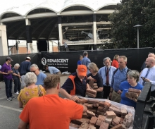 UVA gave out hundreds of bricks from University Hall.