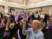 Activists filled a House committee room Tuesday to show their support for resolutions ratifying the ERA in Virginia.