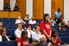 Laura Swanson, a Richmond resident and Moms Demand Action member