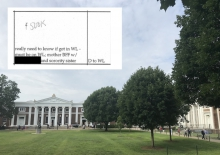 An author contends this document shows a $500K donation moved a student from Denied to WaitListed.