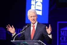 At the University of Virginia Thursday [05/23], former president Bill Clinton slammed President Trump and lauded his longtime friend Terry McAuliffe for their words about August 12, 2017.
