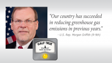 """Griffith """"Half True"""" On Greenhouse Reduction Claim"""