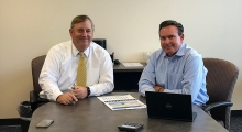 Ned Smither, Director of Finance and Chip England, Director of Public Utilities