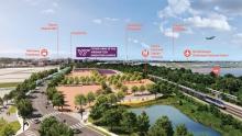rendering of tech campus