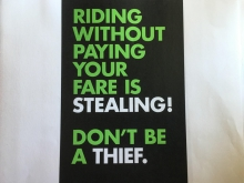 GRTC poster about paying fare