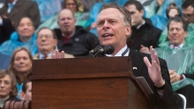 Former Governor Terry McAuliffe at his inauguration. e