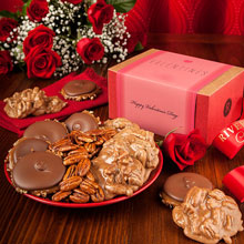 Valentine Collection of Pralines, Logger Heads and Glazed Pecans