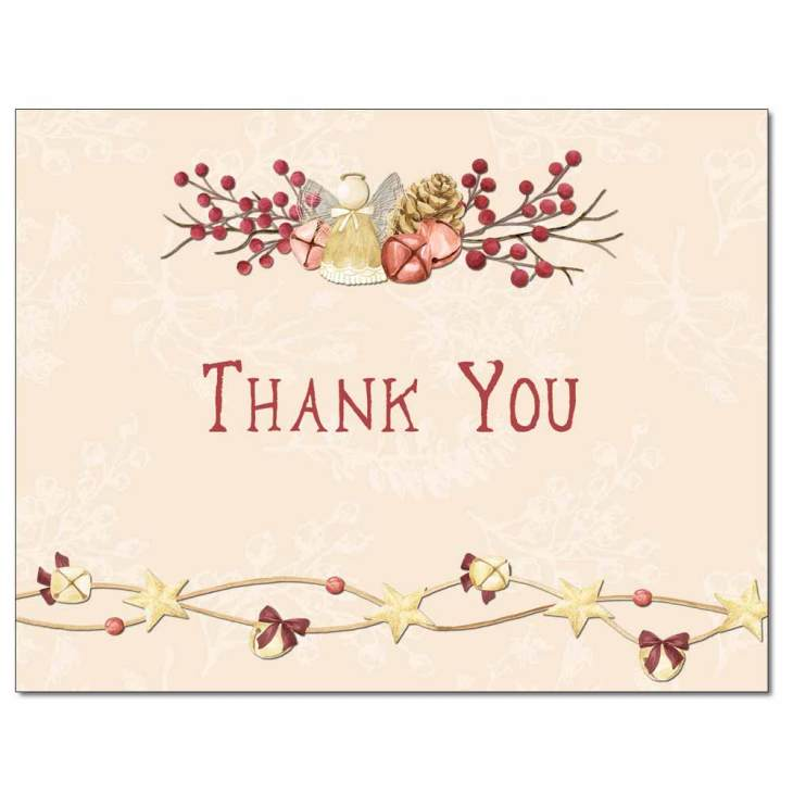 angel bells thank you cards  note cards  the image shop