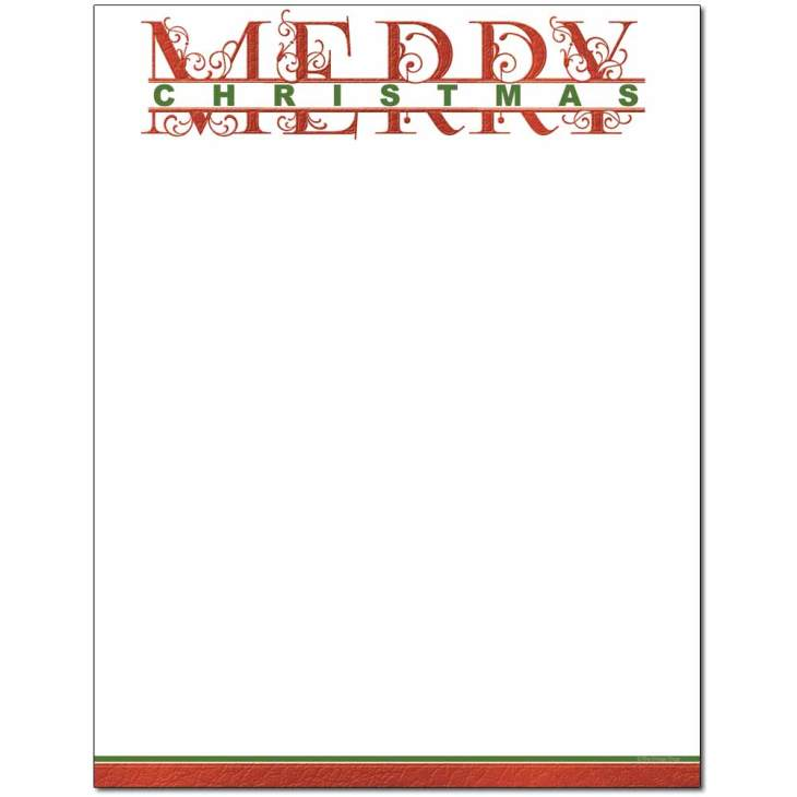 merry christmas printable letterhead