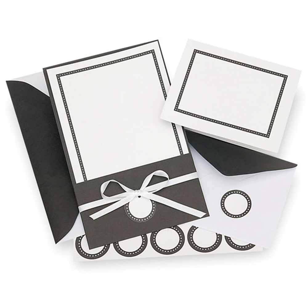 Classic Black and White Invitation Kit