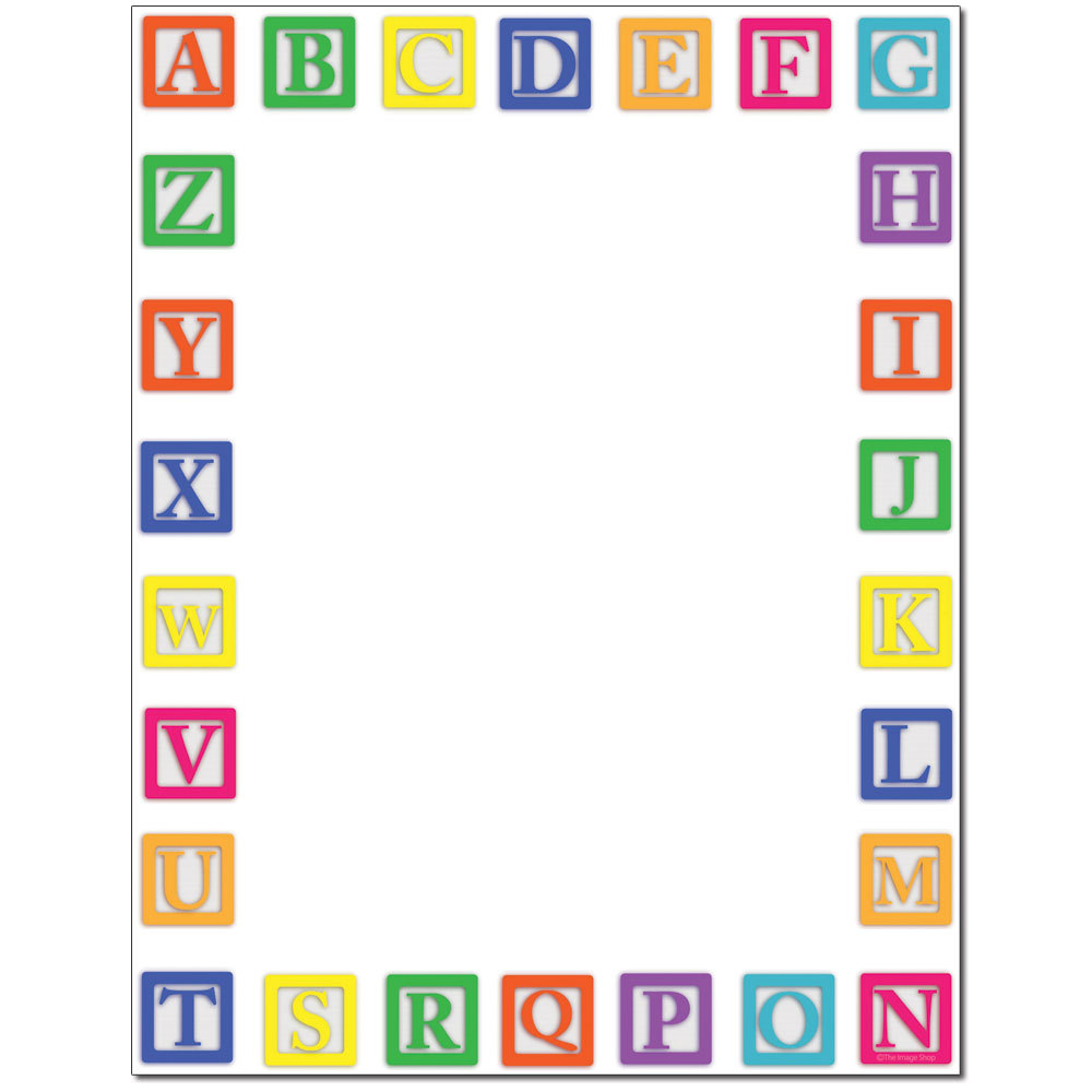 Alphabet Blocks Letterhead