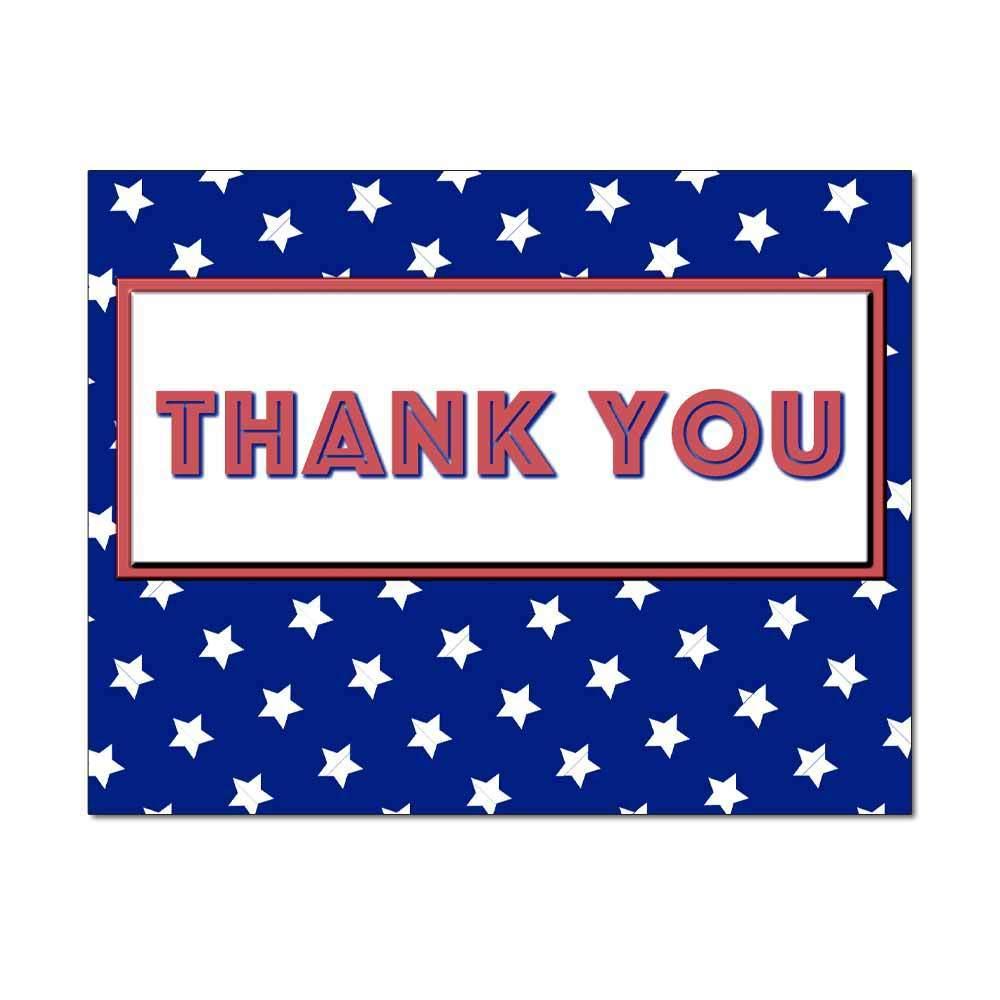 American Stars Thank You Card
