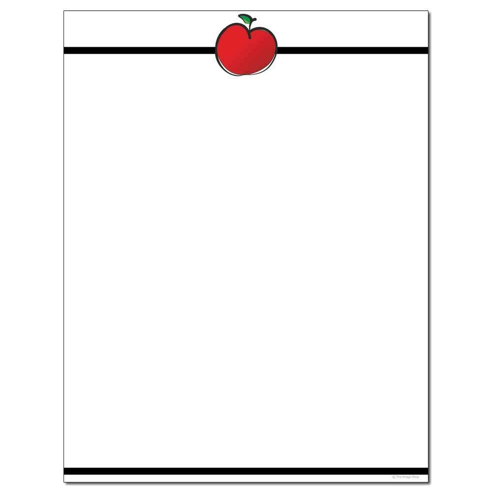 Apple For The Teacher Letterhead