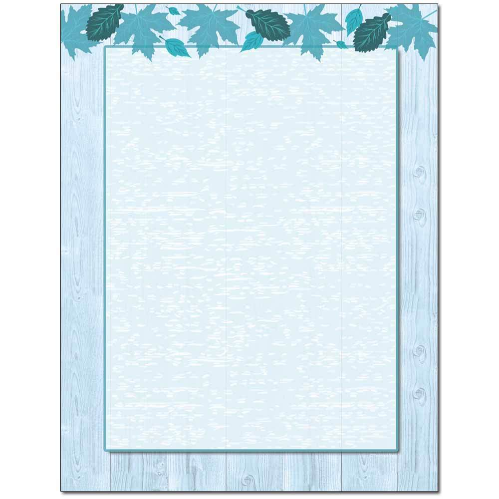 Autumn In Blue Letterhead