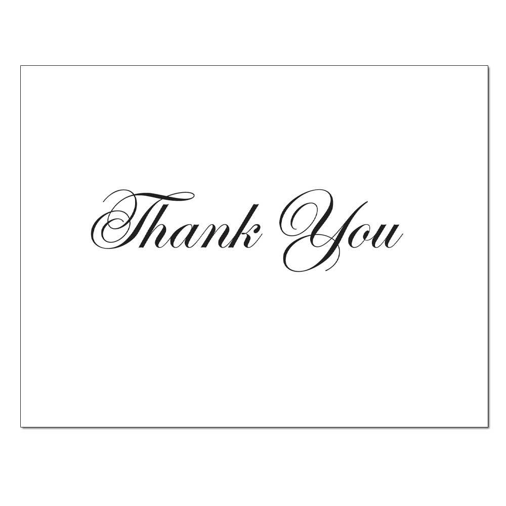 Basic Black Thank You Card