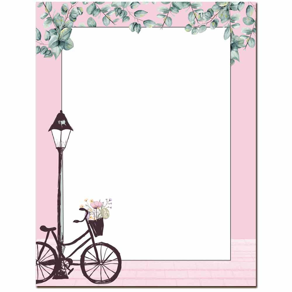 Basket of Flowers Letterhead