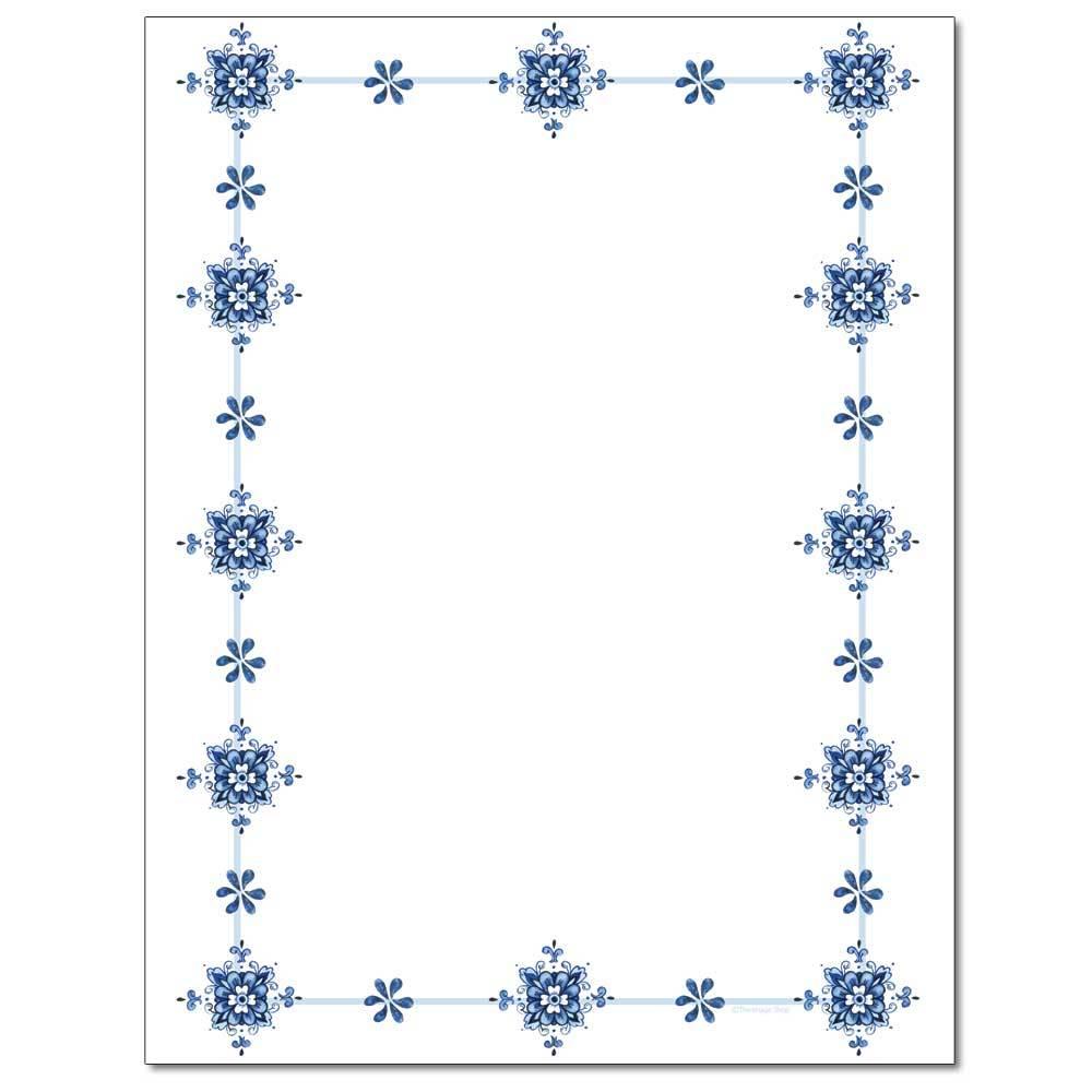 Blue Delft Letterhead