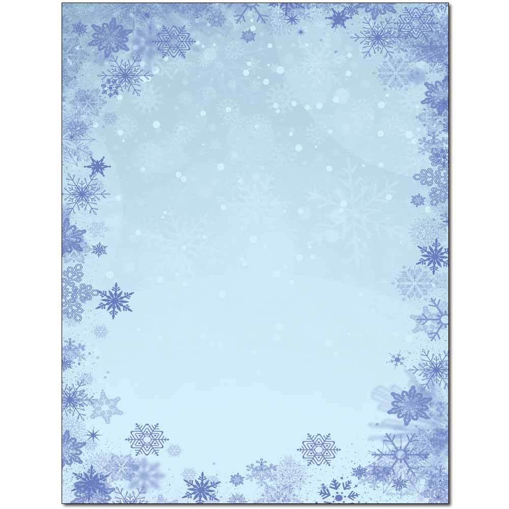 Blue Snowflakes Letterhead