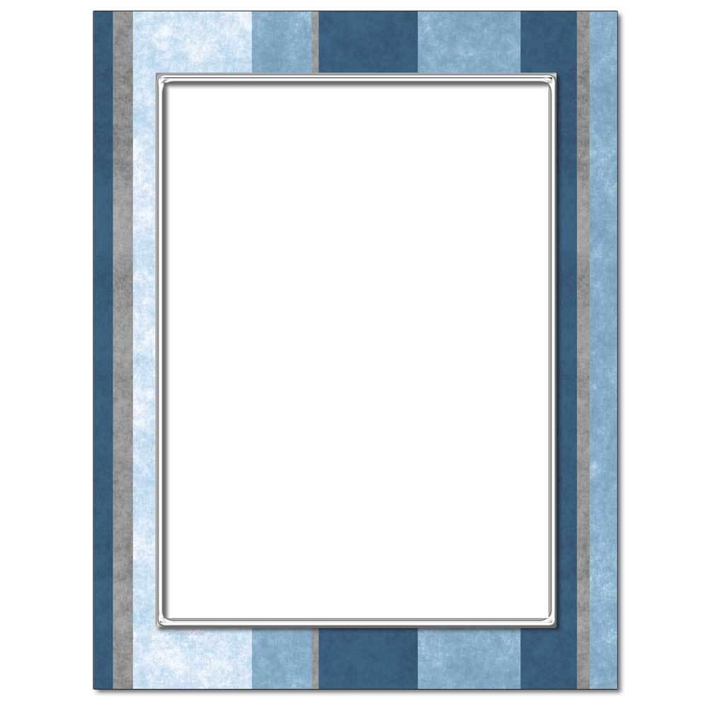 Blue Stripes Letterhead
