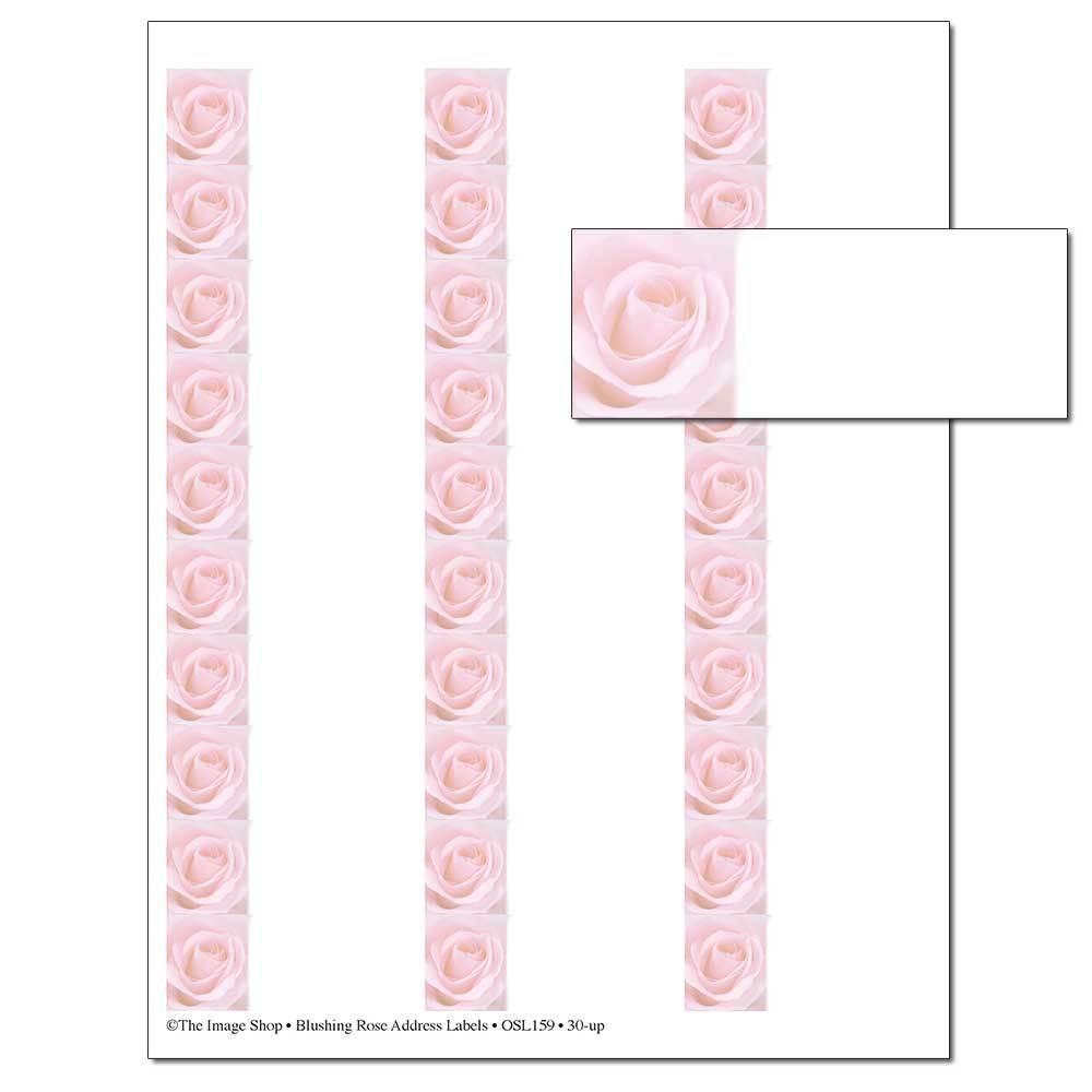 Blushing Rose Address Labels