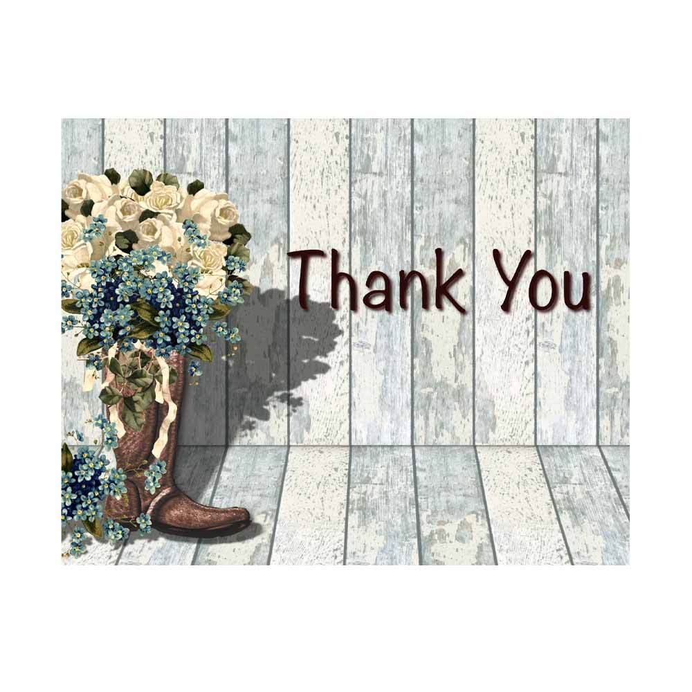 Boot Bouquet Thank You Card