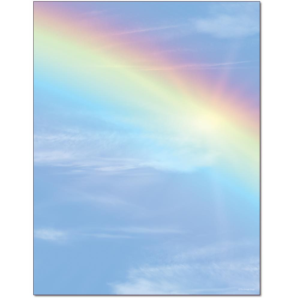Bright Rainbow Letterhead