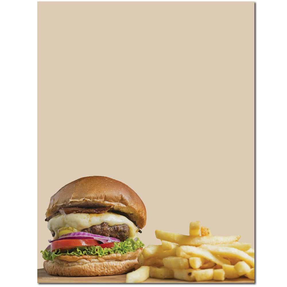 Burger & Fries Letterhead