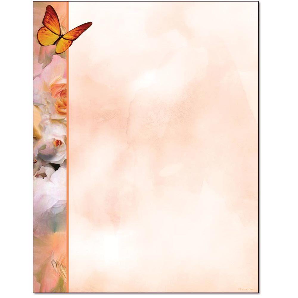 Butterfly & Flowers Letterhead