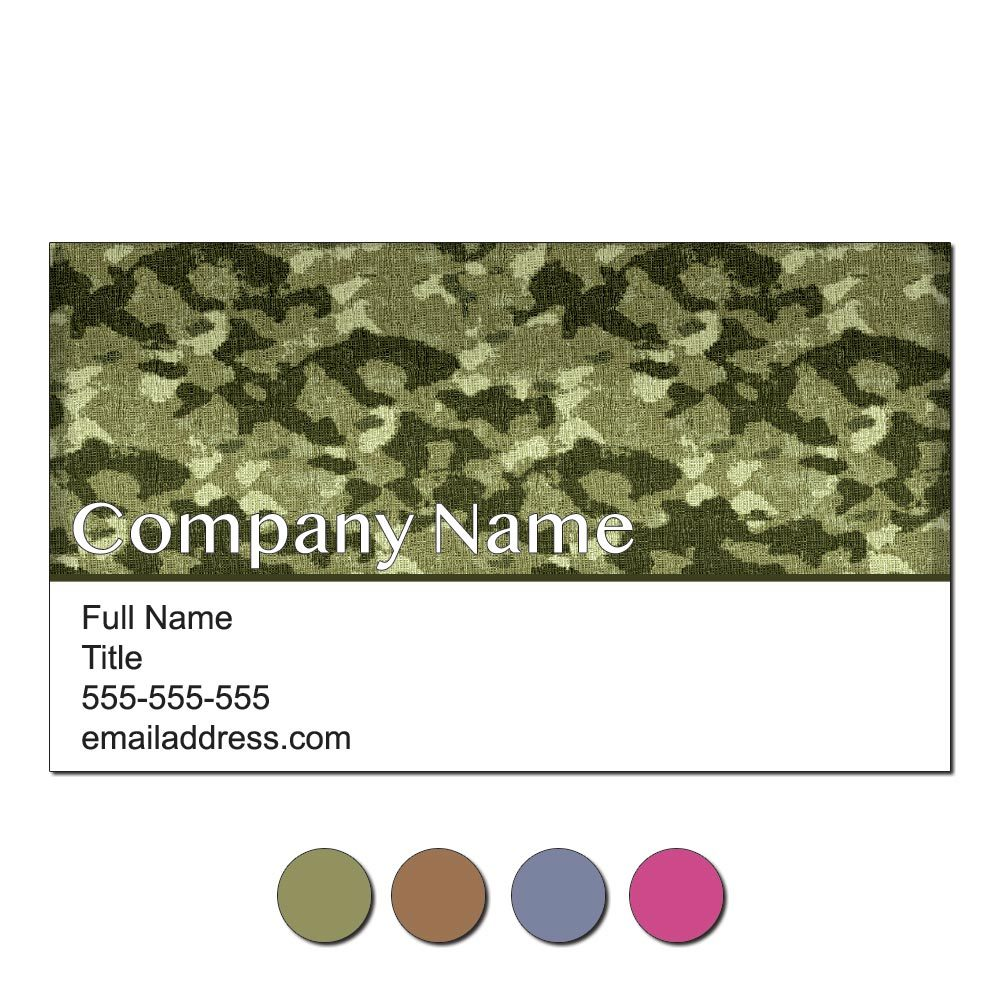 Camouflage Custom Business Cards