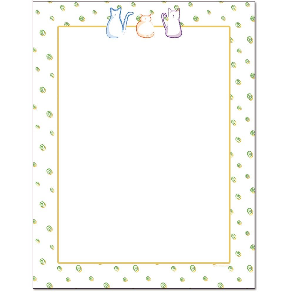 Cats & Swirls Letterhead