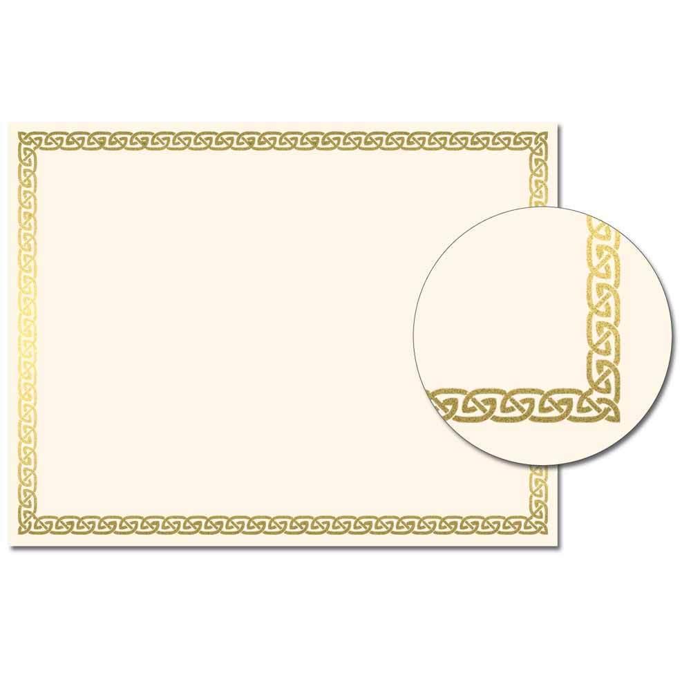 Celtic Foil Certificates