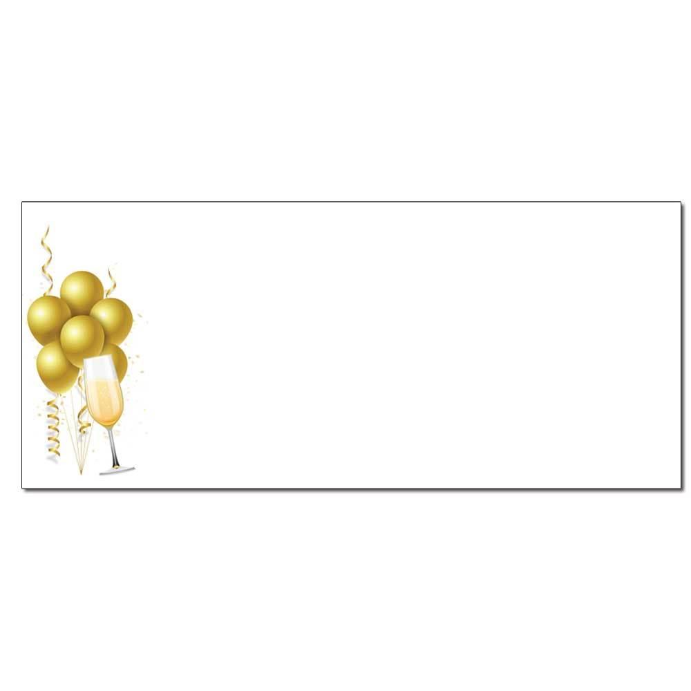 Champagne Balloons Envelopes