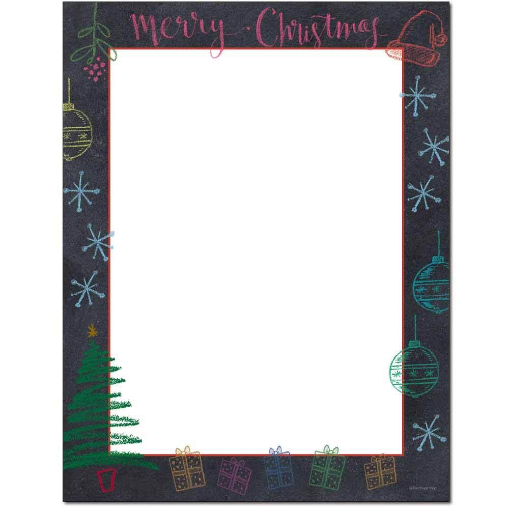 Christmas Chalkboard Letterhead