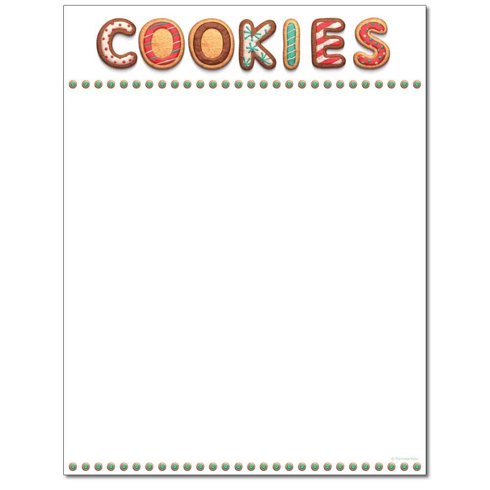 Christmas Cookies Letterhead