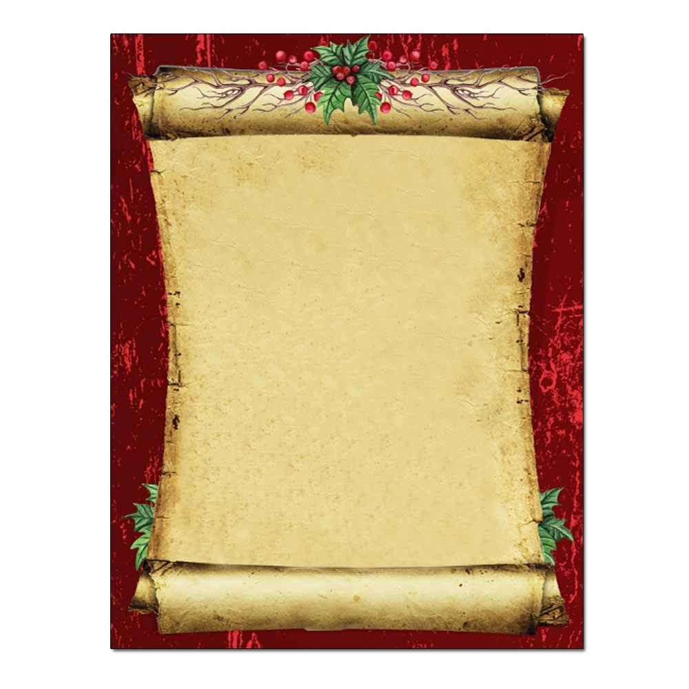 Christmas Scroll Post Card 48pk
