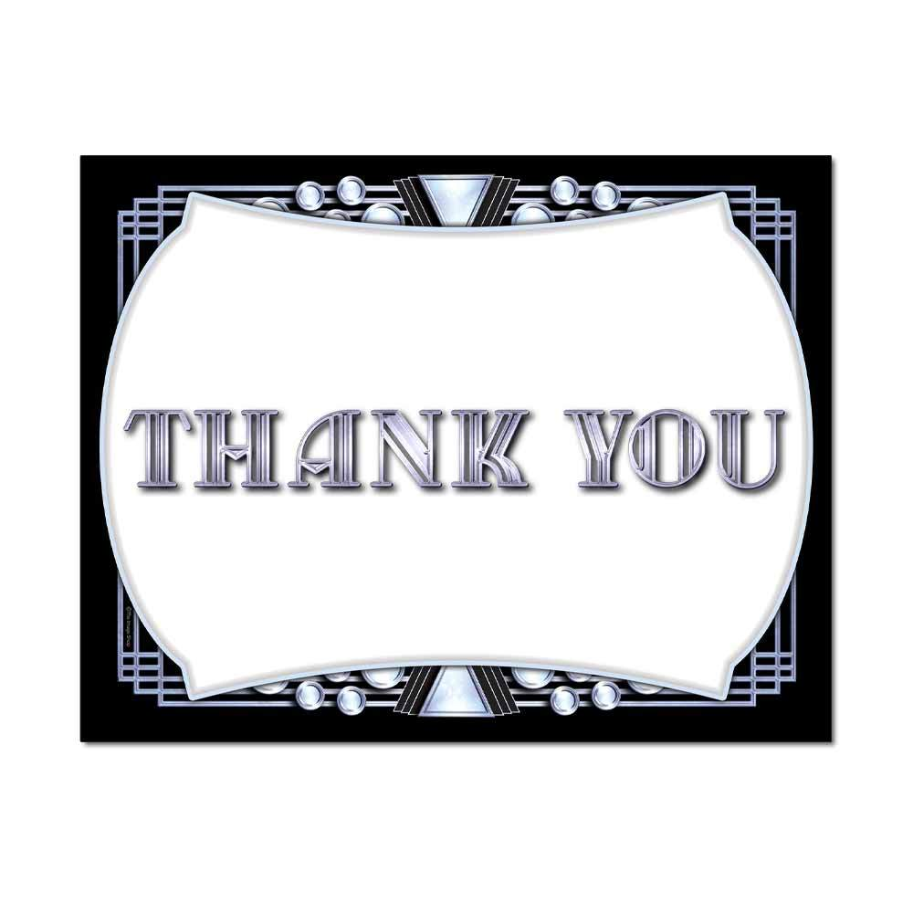 Chrome Deco Thank You Card