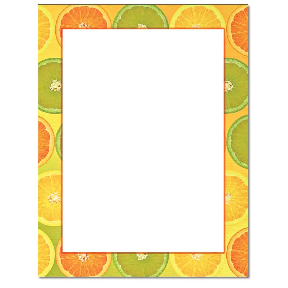 Citrus Slices Border Paper