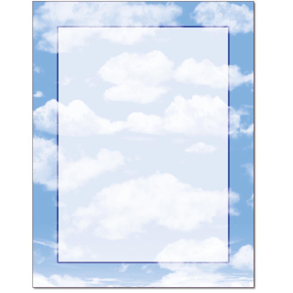Clouds Border Paper