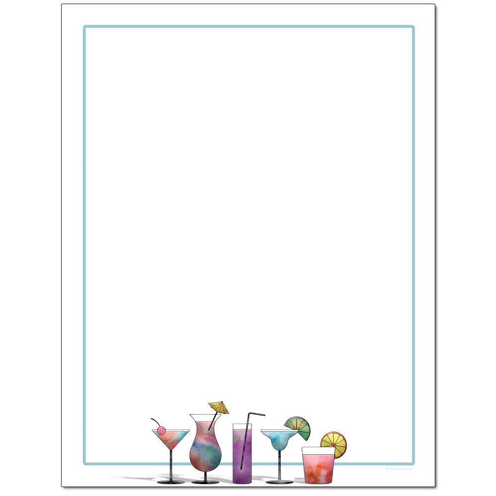 Cocktails Letterhead