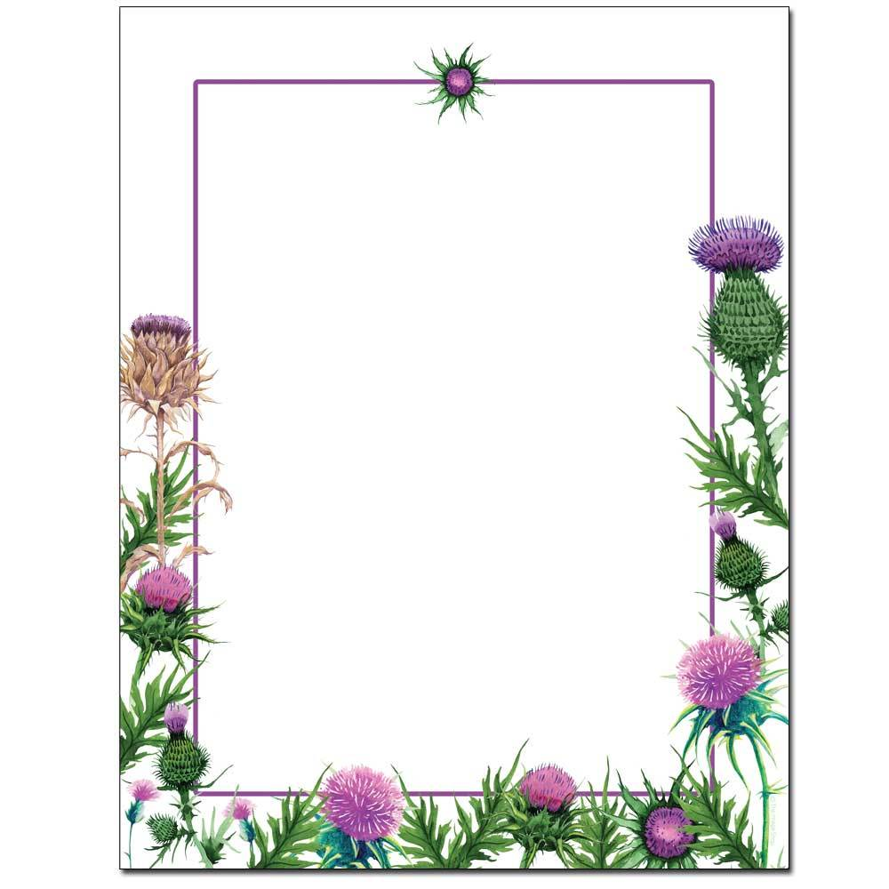Colorful Thistles Letterhead