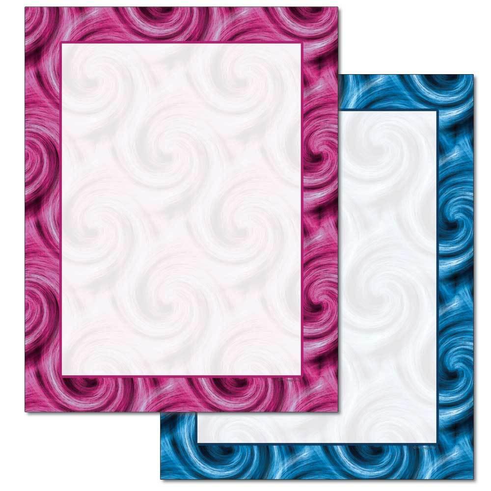 Colorful Swirls Letterhead