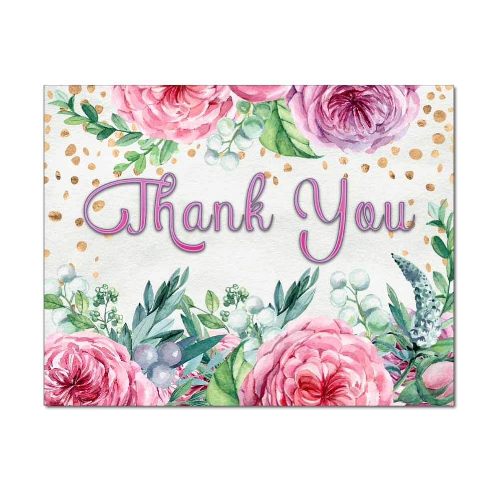 Confetti Flowers Thank You Card