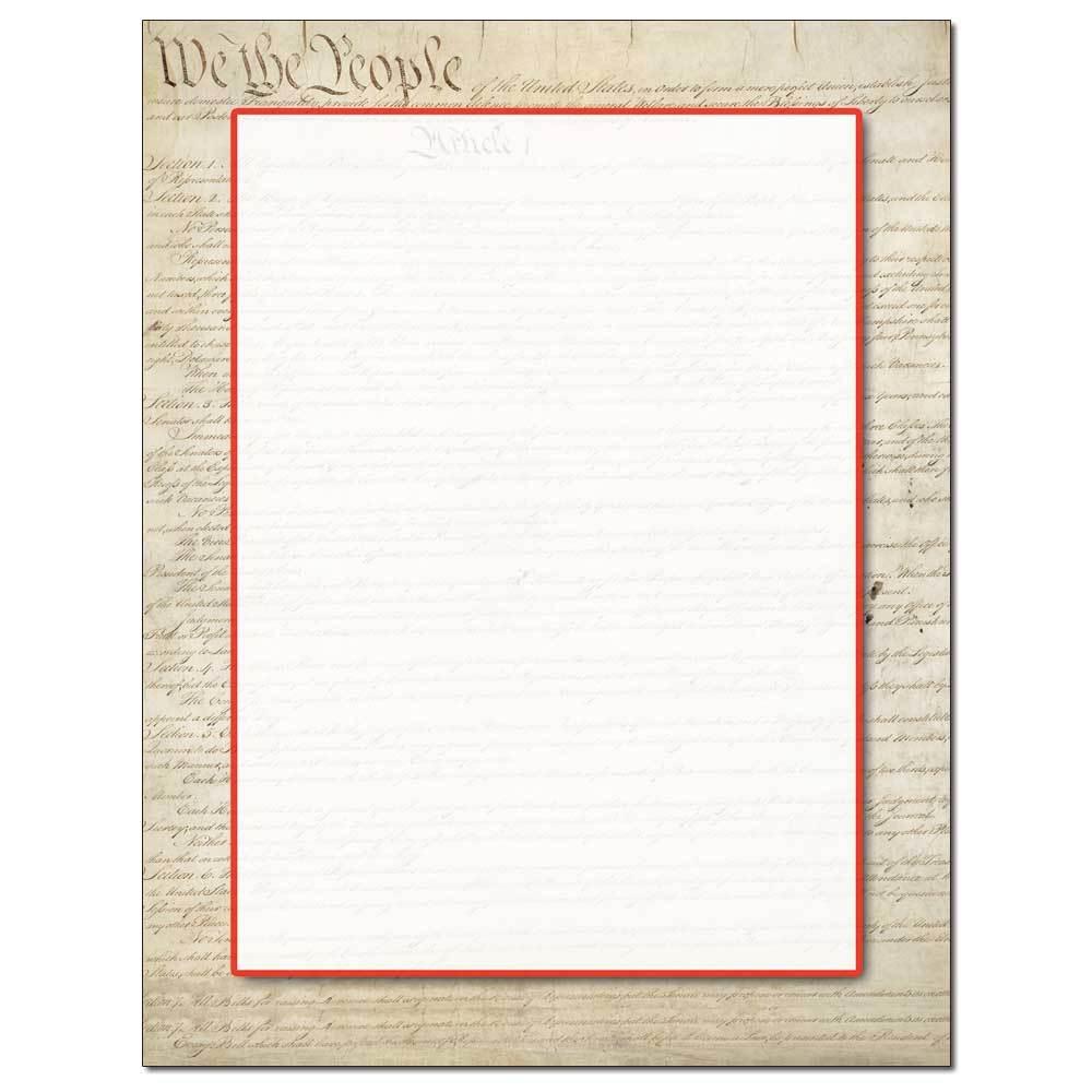 Constitution Letterhead